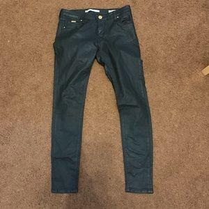 {ZARA WOMAN} faux leather pants